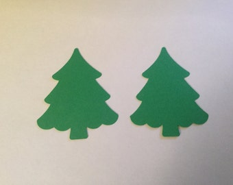 50 Christmas Tree Cut Outs, 2.5 inch Tree Die Cuts, Christmas Confetti, Tree Confetti, Christmas Party Decor, Holiday Confetti, Table Decor