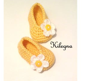 Newborn girl shoes Baby Girl Spring Shoes Yellow Baby Girls Booties Flats Style