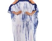 Modern Shibori Halter Dress / Summer Indigo Dress / Blue and White Tie Dye Dress : Shibori Collection (SI-011)