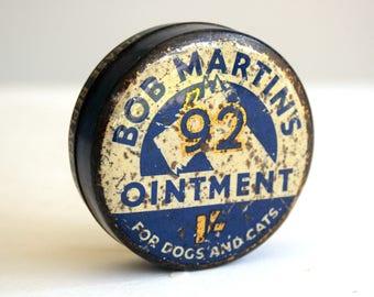 vintage bob martins 92 ointment tin