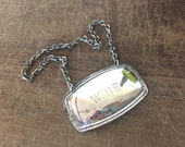 Vintage silver plate wine  decanter / botle necklace