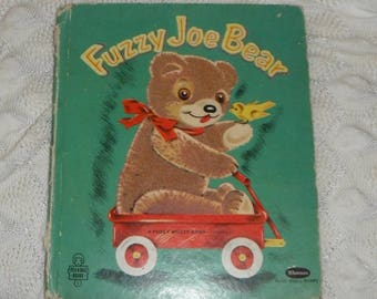 Fuzzy Joe Bear by Gladys M Horn Vintage  Whitman Tell A Tale Book