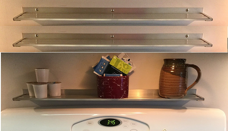 Industrial Kitchen Shelf Aluminum Wall Storage Shelves