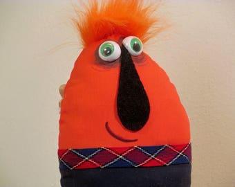 Morbert the Orange  stuffed cloth art doll