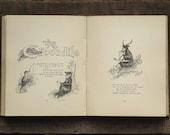 Antique book, Victorian children's verse Animal Anticks by Oliver Herford