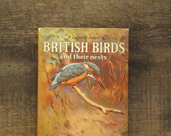 Vintage 1950s Ladybird Book of British Birds and their nests, with dust jacket,  by Brian Vesey - Fitzgerald, illustrated by Allen W. Seaby