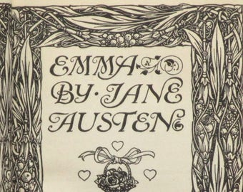 Antique book Emma by Jane Austen, vintage 1910s book