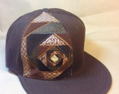 Steal your face - patchwork fitted hat size 7 3/8