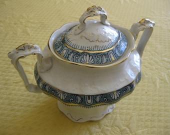 Porcelaine De Terre John Edwards England Ophir Antique Sugar Bowl with Lid