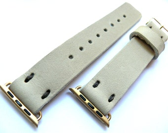 Tan Beige Leather Apple Watch band 38mm leather watch band, Apple watch strap, iwatch band, apple watch leather band, apple watch strap