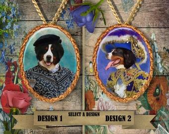 Bernese Mountain Dog  Jewelry. Bernese Mountain Dog Pendant or Brooch. Bernese Mountain Dog Necklace. Custom Dog Jewelry by Nobility Dogs
