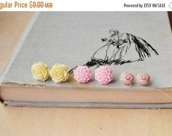 SALE Spring Love Flower Stud Earrings Set