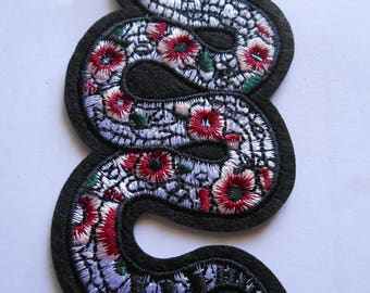 Snake Iron on Embroidered Applique