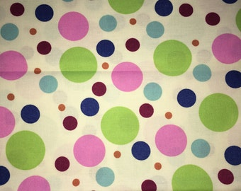 Pastel Polka Dots Fabric by the Yard