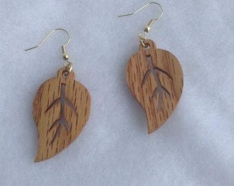 Gifts Women Jewelry For Birthday, Earrings, Gift for Her, Gift for Wife, Wood Earrings Gift, Handmade Jewelry, Drop Earrings