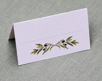 French,Provencal,Italian Olive branch place card, set of 12