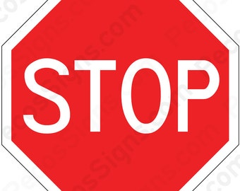 "STOP Sign 12"" Aluminum Sign Made in the USA by US Vets"