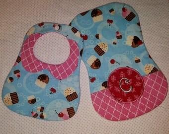 Darling Baby Bib & Burp Cloth Gift Set Personalized