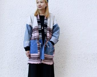 Baja Patchwork Denim Kimono