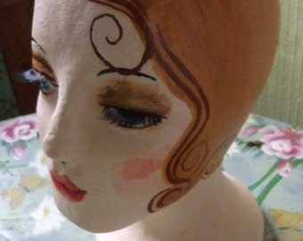 Blonde mannequin hand painted as a flapper girl