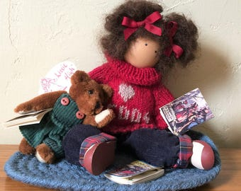 Vintage Lizzie High Doll Chloe Valentine Wood Doll For Members Of Lizzie High Society Exclusively 1994 Hand Crafted Original Tag Teddy Bear