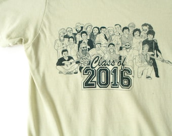 2016 MEMORIAL SHIRT with David Bowie, Prince, Leonard Cohen, Muhammad Ali, Phife Dawg, Alan Vega, Sharon Jones, Gene Wilder and many more