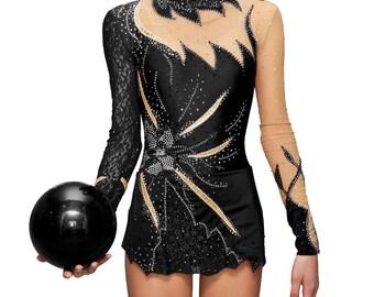 Rhythmic Gymnastics Leotard #27  for Competition | Order as Ice Figure Skating Dress, Acrobatic Gymnastics Costume