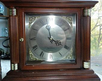 Vintage Bulova Westminster Chime Mantel Clock - Quartz