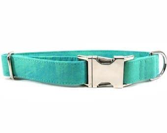 Patina Aqua Green Dog Collar