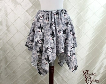 "HALF OFF SALE Disney Villains Cotton Print Pixie Petal Skirt -- 4 Point, 24"" Point Length -- Fits up to 36"" Waist"