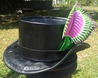 Venus Flytrap Leather Tophat