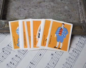 "Vintage Soviet Russian Collectible Matchbox Labels ""National costumes"".Set of 19."