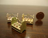 Miniature for dollhouse. Wooden support, for eggs,