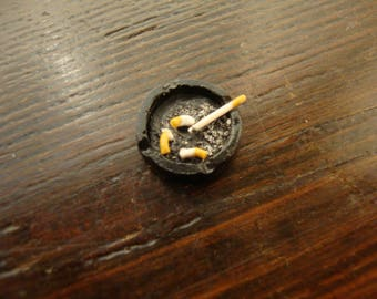 miniature for dollhouse ashtray with Cigarettes