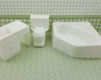 Superior Bathroom  Soft  Plastic Pure White tub toilet sink