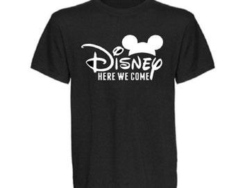 Disney Here We Come Shirt, Disney Group T Shirt, Mickey Mouse Shirt, Mens Disney Shirt, Disney Shirt, Couples Disney Shirt, Disney Mens Top