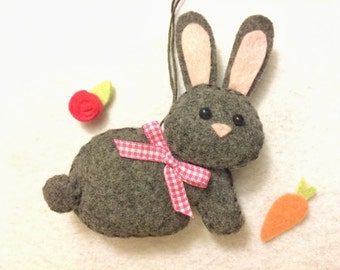 Easter Bunny - Easter Decoration - Bunny Ornament - Easter Ornament - Easter Decor - Felt Bunny - Easter Rabbit - Felt Ornament - Bunny