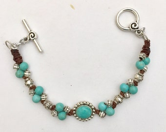 Turquoise Knotted Bracelet