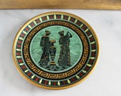 vintage grecian decorative plate, wall plate, ceramic plate, hellenism, classicism, classic, greek, greek key, ancient greece