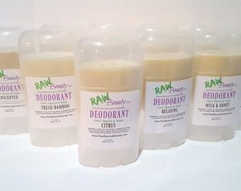 Natural Deodorant - Vegan Deodorant - Deodorant Stick - Natural Body Care RAW Beauty LLC