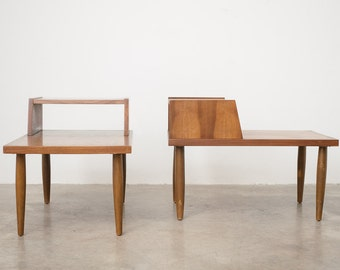 Pair of Mid Century Step Side Tables