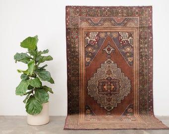 AHMET 5x8.5 Hand Knotted Turkish Wool Rug