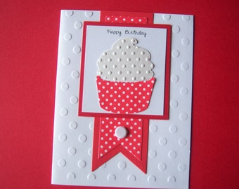 Dotted Cupcake Birthday Card