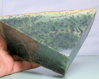 Large Nephrite Jade Lapidary Rough Slab from Jade City BC Canada 1748 gram piece. Lapidary & Cabochon Supply Jewerly Material