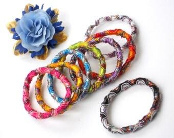 8 Scrunchie Ponytail Elastics -  Hair Elastic DESTASH SALE - Kids Bracelet Elastic -  Rainbow Hair Scrunchies, Jewelry Supply & Party Favors