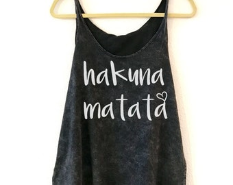 Hakuna Matata. Hakuna Matata Tank Top. Clothing. Women's Clothing. T-Shirt. Tops & Tees. Don't Worry Tank. Disney Tank Top. Disney T-Shirt.