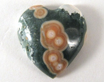 Ocean Jasper Cabochon HEART SHAPED - ETOJ614