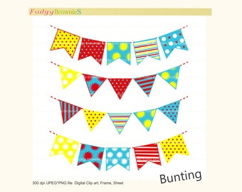ON SALE bunting clip art,Digital bunting, Dr Suess flag banners scrapbooking bunting,Dr Suess, Flags banner , Instant Download