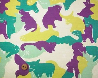 Japanese Fabric : Animal Puzzle  - 1/4 Yard