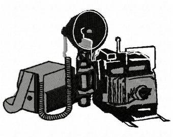Camera Machine Embroidery Design - Instant Download